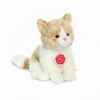 Peluche chat beige 20 cm hermann 90684 1