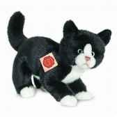 peluche chat noir blanc 25 cm hermann 90686 5