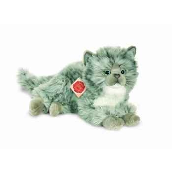 Peluche chat gris 35 cm hermann 90687 2