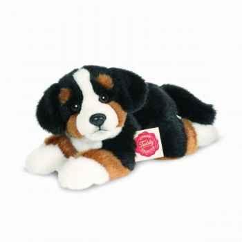 Peluche chien bouvier bernois couché 23 cm hermann 92705 1