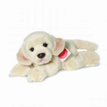 Peluche chien labrador couché 23 cm hermann 92707 5