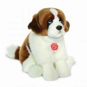 Peluche chien st bernard assis 29 cm hermann 92765 5