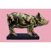 figurine cochon party piggies couchon camouflage pap02