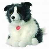 peluche chien border collie 30 cm hermann 92771 6