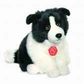 peluche chien border collie 24 cm hermann 92772 3