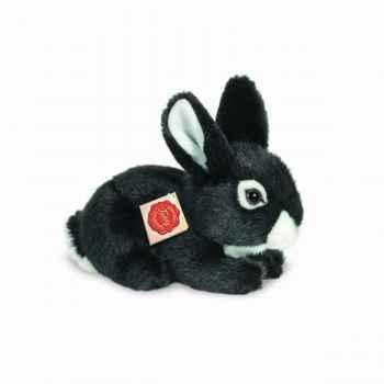 Peluche lapin assis noir 19 cm hermann 93704 3