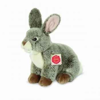 Peluche lapin assis gris 24 cm hermann 93758 6