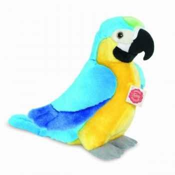 Peluche perroquet 28 cm hermann 94136 1