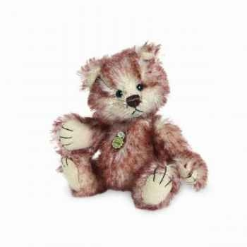 Peluche miniature ours chestnut 10 cm collection éd. limitée teddy hermann -15096 1