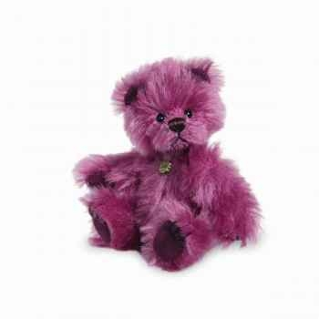 Peluche miniature ours violet 10 cm collection éd. limitée teddy hermann -15098 5