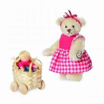Peluche miniature ours klara 9 cm collection 2d. limitée teddy original hermann -15158 6