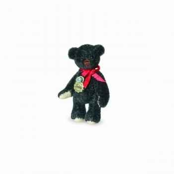 Peluche miniature ours teddy noir 4,5 cm collection teddy original hermann -15779 3
