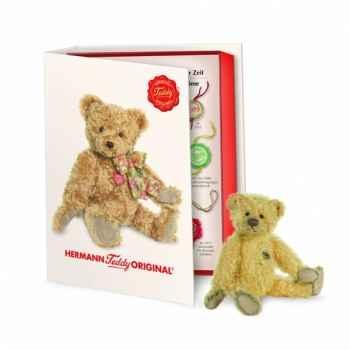 Peluche miniature ours teddy 14 cm collection éd. limitée livre hermann -16242 1