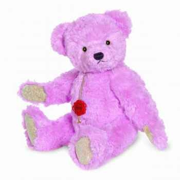 Peluche ourse teddy rose hyazintha 35 cm collection éd. limitée 200 ex. hermann -12326 2
