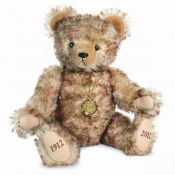 Peluche ours teddy bear 100 ans 45 cm collection éd. limitée 300 ex. hermann -14642 1