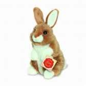 lapin assis marron 16 cm hermann 93771 5