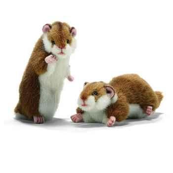 Anima - Peluche hamsters dressé et couché 16 cm -3738