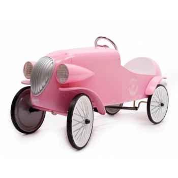 Baghera - Voiture à pédales en métal Le Mans- rose - 55 x 115 cm - 3 à 5 ans - Baghera-01924R