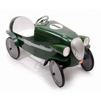 Baghera - Voiture à pédales en métal Le Mans- verte - 55 x 115 cm - 3 à 5 ans - Baghera-01924V