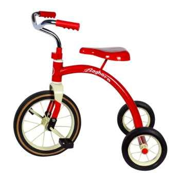Baghera - Tricycle en métal - coloris rouge - 1 an+ - Baghera-00888