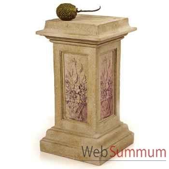 Colonne et Piedestal Spring Pedestal, grès combinés fer -bs1027sa -iro