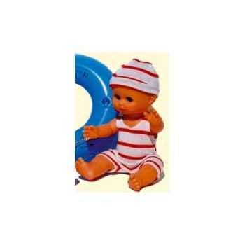 Bébé Petit Calin-28cm-blanc-A la Plage-corps vinyle-yeux dormeurs-612869