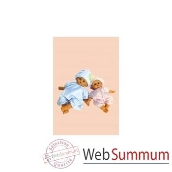 Bébé Petit Calin-36 cm-blanc-A la Crèche-corps souple-yeux dormeurs-623665