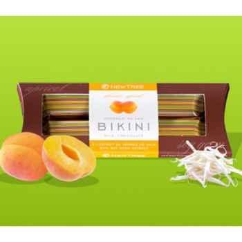 Newtree-Barre Duopack Chocolat Lait Bikini Abricot, Duopack 2X30g -341187