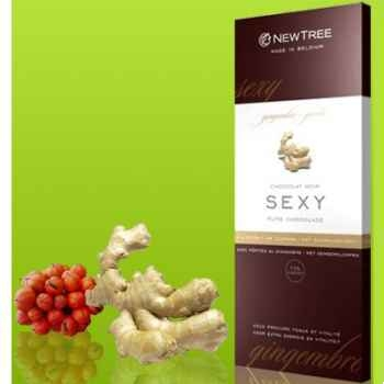 Newtree-Chocolat Noir Sexy Gingembre, tablette 80g-341040