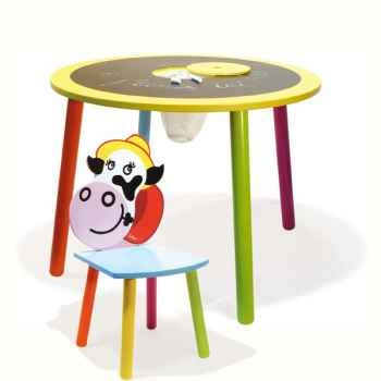 Table tableau et la chaise Rosy La vache - Vilac 8806