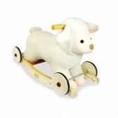 porteur peluche baby mouton a bascule et roulettes vilac 1084