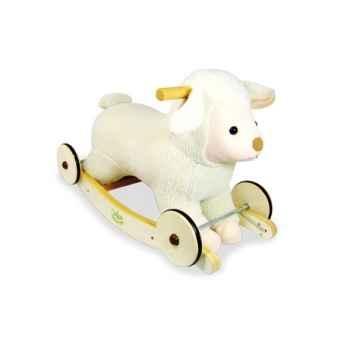 Porteur peluche Baby mouton à bascule et roulettes - Vilac 1084
