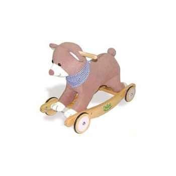 Porteur peluche Baby ourson à bascule et roulettes - Vilac 1028