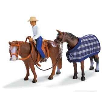 schleich-40188-Set équitation western