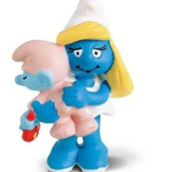 schleich-20192-Figurine schtroumpfette avec bébé