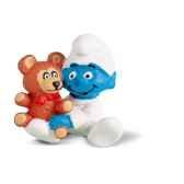schleich 20205 figurine schtroumpf bebe avec ourson