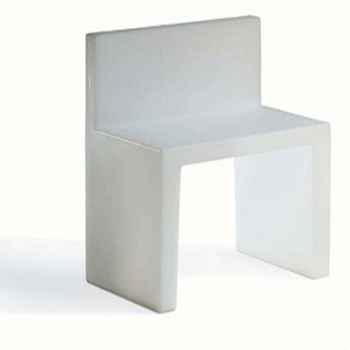 Chaise Design Blanche Angolo Retto Slide - SD AGR050