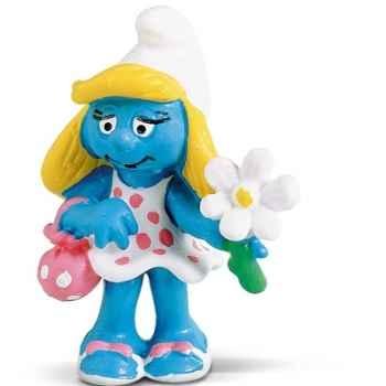 schleich-20421-Figurine schtroumpfette à fleur