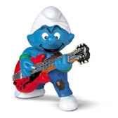 schleich 20449 figurine schtroumpf guitariste