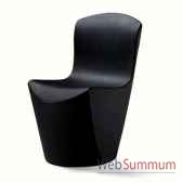 chaise design noire zoe slide sd zoe080