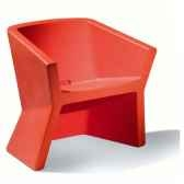 chaise design rouge exofa slide sd exo050