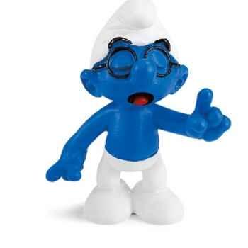 schleich-20536-Figurine schtroumpf à lunettes