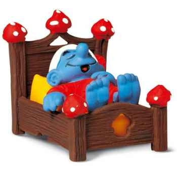 schleich-40240-Figurine schtroumpf au lit