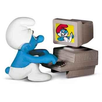 schleich-40249-Figurine schtroumpf ordinateur