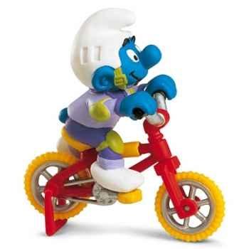 schleich-40252-Figurine schtroumpf sur son vélo acrobatique