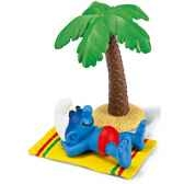 schleich 40261 figurine schtroumpf en vacances