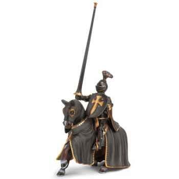 schleich-70032-Figurine Chevalier noir à cheval, échelle environ 1:20