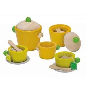 Service à thé - planwood en bois  Plan Toys -3604