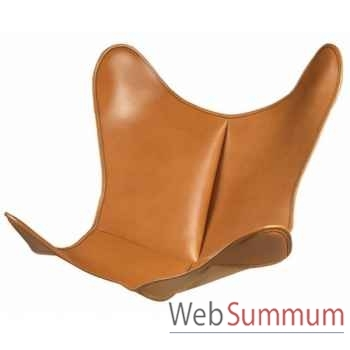 Housse aa butterfly cuir naturel AA new design