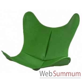 Housse aa butterfly cuir vert AA new design